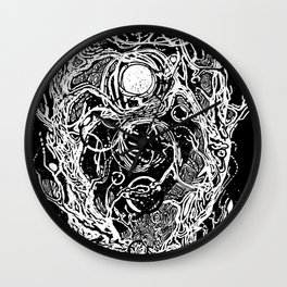 Forest of dark dreams Wall Clock