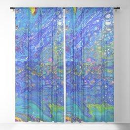 Abstract Peacock Sheer Curtain