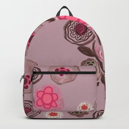 Hand drawn nature botanical floral pattern Backpack