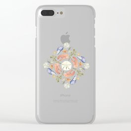 Tide Pool Beach Mandala 5 - Watercolor Clear iPhone Case
