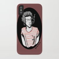 smoking iPhone & iPod Cases featuring Smoking by LePomiere