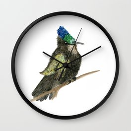 Antillean Crested Hummingbird Wall Clock