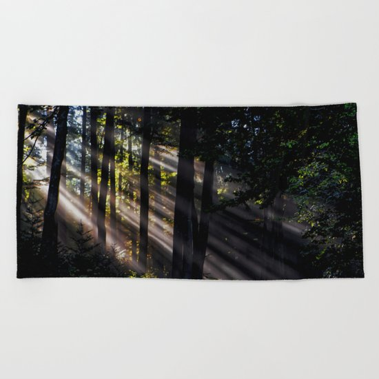 Pathless Woods #spring #forest Beach Towel