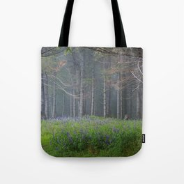 Lupines At The Forest's Edge Tote Bag