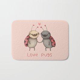 Love Pugs Bath Mat