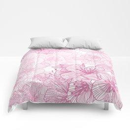 Pink Cherry Blossom Comforters