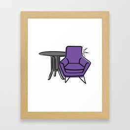 Table & Chairs 05 Framed Art Print