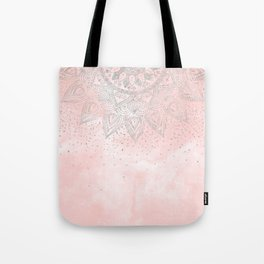 Luxury silver gray mandala confetti design Tote Bag