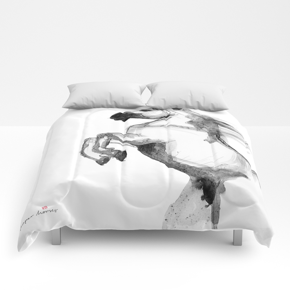 Horse (andalusian) Comforter by Paperhorses CMF7623423
