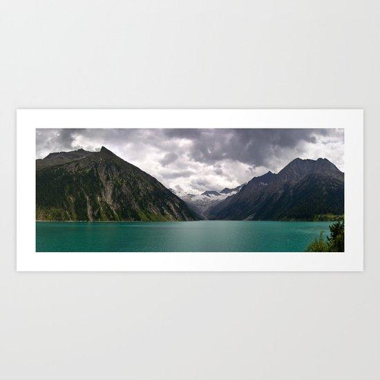 Schlegeis Lake, Austria   Panorama Art Print