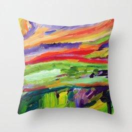 Green Landscape1 Throw Pillow