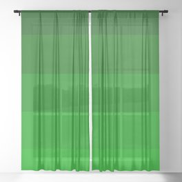 Irish Kelly Green Ombre Stripes Sheer Curtain