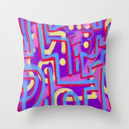 squiggletown cray Throw Pillow