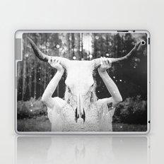 Bull Skull Tribal Woman Vintage Laptop & iPad Skin