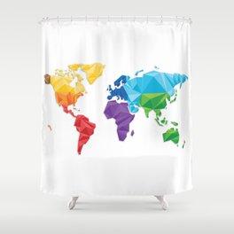 World of geometric concept design  Shower Curtain