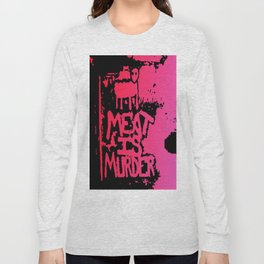 Meat is Murder  Red Death Long Sleeve T-shirt