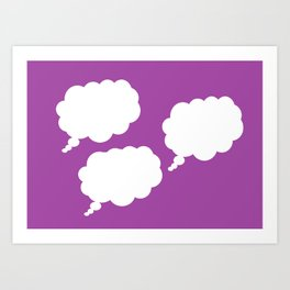 thoughts on purple Art Print