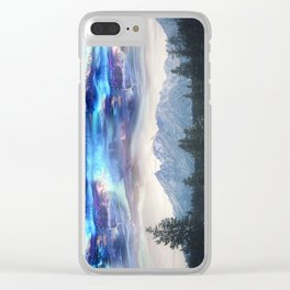 Abstract Landscape | Abstract Space | Mountains | Surreal Landscape | Surreal Sky Clear iPhone Case