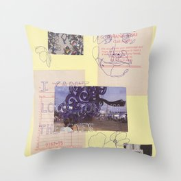 in the eyes Throw Pillow