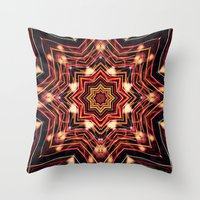 charlie Throw Pillows featuring Charlie by Shereen Yap