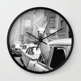 New York Llama Wall Clock
