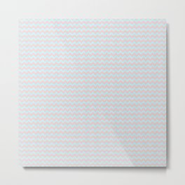 Bubblegum Chevrons by Squibble Design Metal Print