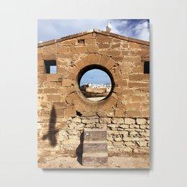 The Porthole, Essaouira, Morocco Metal Print