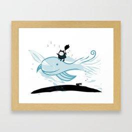 Whale Wind Framed Art Print