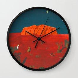 Evening at Uluru Wall Clock