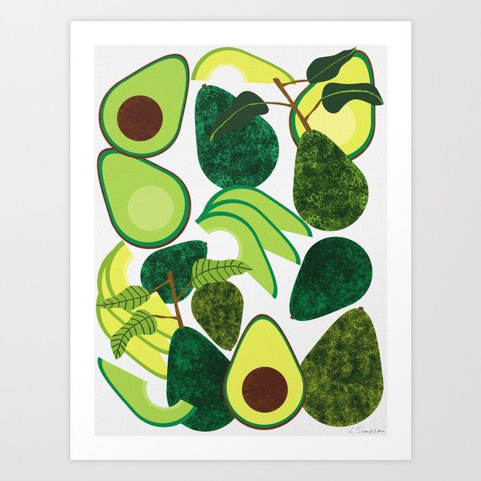 Avocados Kunstdrucke