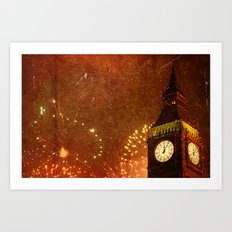 New Year Celebrations! Art Print