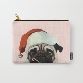 Santa Pug Carry-All Pouch