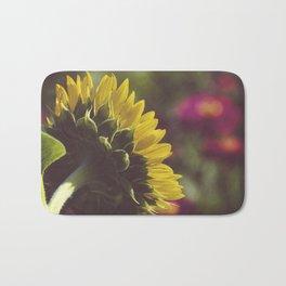 Dramatic Backside of Sunflower Botanical / Floral / Nature Photograph Bath Mat