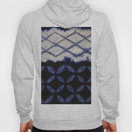 V42 Dark Blue Traditional Moroccan Texture Hoody