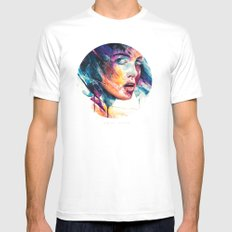 sheets of colored glass MEDIUM Mens Fitted Tee White