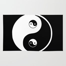 Ying yang the symbol of harmony and balance- good and evil Rug