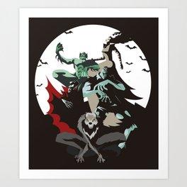 evil monsters group poster Art Print