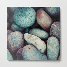 """Speckled """"Easter Egg"""" Colorful Rock Collection Metal Print"""