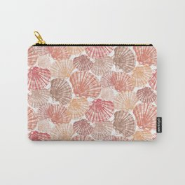 Mid Shells: Pink corals Carry-All Pouch