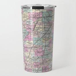 Vintage Map of Illinois (1855) Travel Mug