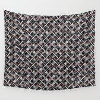 herringbone Wall Tapestries featuring NES Herringbone by Atomic Rocket