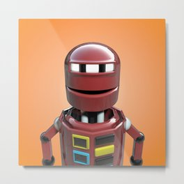 Andrew the robot. Metal Print