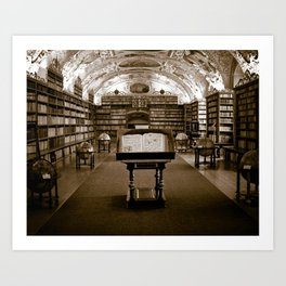 Prague Library Art Print