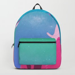Portrait in space Backpack
