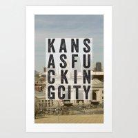 kansasfuckingcity 2 Art Print