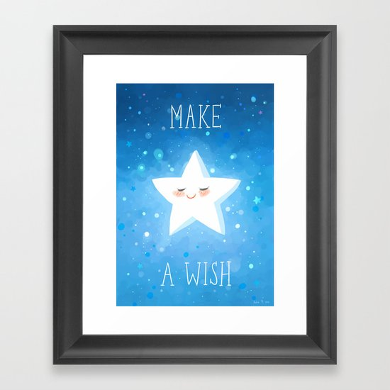 Make a Wish Framed Art Print