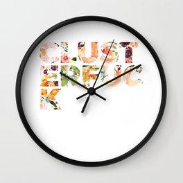Flowery Language: CLUSTERFUCK Wall Clock