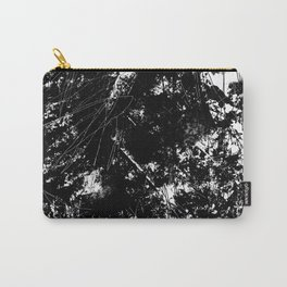 Black and White Urban Abstract Scratch Pattern Carry-All Pouch