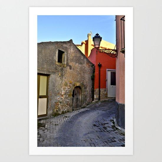Medieval village of Sicily Art Print