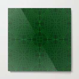 ELEGANT GREENERY GEOMETRICAL DIAMONDS Metal Print